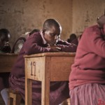 Class 8 pupils doing an exam at KMQ Primary School in Kajiado. The school has benefited from the school Safe Zone program by Church World Service.