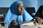 Asha Abdirahman Abdi, a 14 year old student practices using a braille machine at Al Basiir School For The Blind and Deaf-Blind (ASBDB) in Mogadishu Somalia on 15th July 2014. The schools' vision is to create an enabling environment whereby social and cultural integration of the visually impaired and vulnerable children will occur.