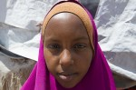 Portrait of Ifrah Abdulle at Walala Biyotey IDP. Ifrah underwent FGM at the age of 8 and she suffered an infection.